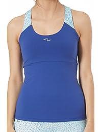 Naffta Fitness Camiseta Tirantes, Mujer, Azul Noche (Intrincado), XL