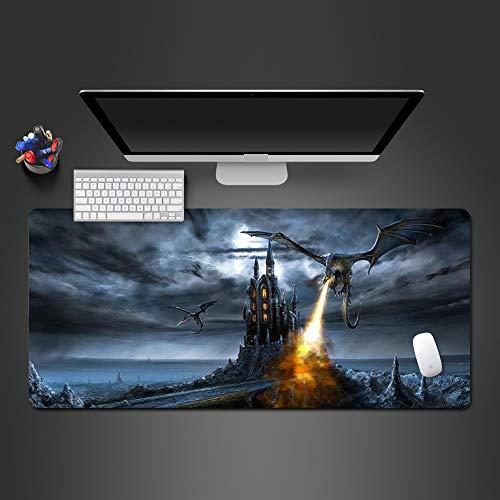 Weiße und Schwarze Wolf-Mausunterlage Qualitätsauflage Computer-Bürotastatur ultradünne Tabellenauflage Mausunterlage 3 800x300x2 -