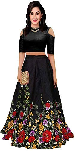 D FASHION GALLERY'S Women's bangalori satin Long Skirt Gown And Top new 2019