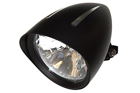 Motorrad Scheinwerfer CLASSIC 1 EXTREME mit Schirm und 3 CNC gefrästen Rillen...