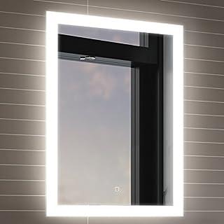 500 x 700 mm Illuminated LED Bathroom Mirror With Light Vanity Light Sensor + Demister Bathroom Mirrors LED Mirror ML7000