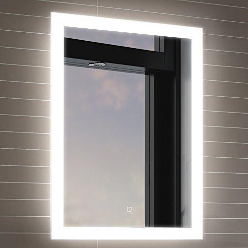 Soak Espejo de baño de 500 x 700mm con iluminación LED, sensor de movimiento y sistema de antivaho integrado