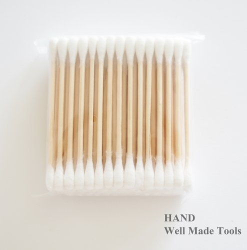 HAND ® 3 Packs of Double End Wooden Grip Cotton Swab Buds White, 150 Counts per Pack- Get the DEAL! by HAND (Swab Pack)