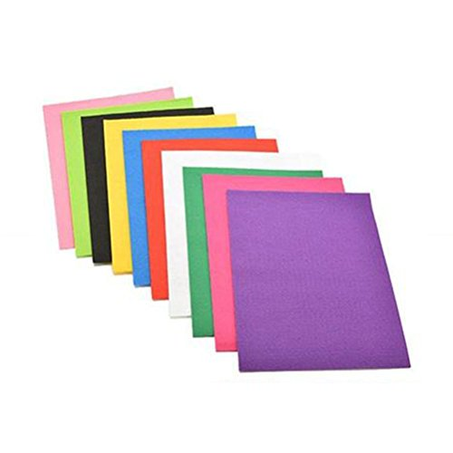 ULTNICE 10 Blätter Stoff Filz Quadrate Polyester Blatt für Patchwork Nähen DIY Handwerk