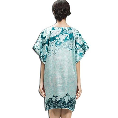 KAXIDY Femme Vêtements de Nuit Chemises Nuit Peignoirs de Bain Robes de Chambre Bleu Clair