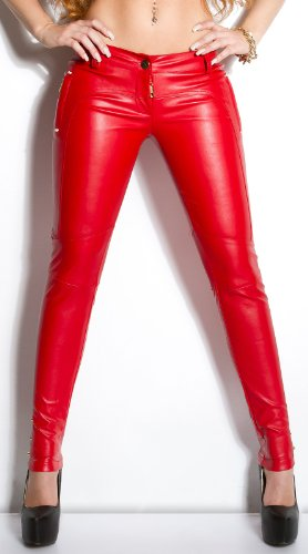 Sexy KouCla Lederlook-Hose mit Taschen Koucla by In-Stylefashion SKU 0000IN5035601 Rot