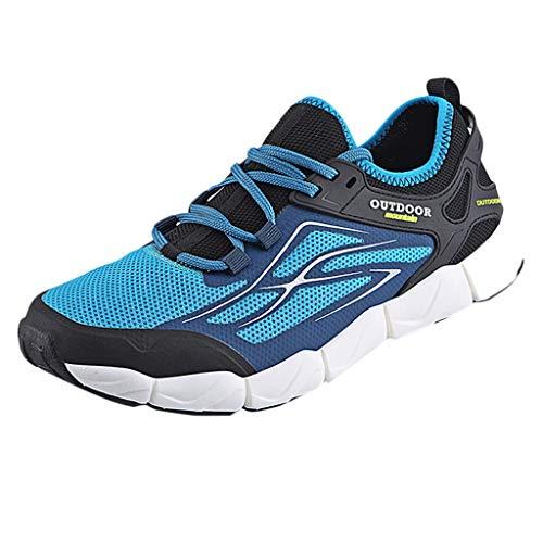 SHE.White Herren Casual Laufschuhe Leichte Gym Sneakers Fitness Turnschuhe männer Mesh Sport Schuhe Größe 39-45 - Schmale Breite Laufschuhe