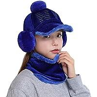 China Show Creativas de Invierno Sombrero con de oído de Cobertura de Warmer emporgeragter Tapas de Tipo de y Forma de béisbol Sombrero Azul