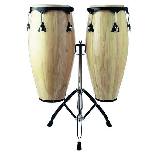 STAGG CWM N D CONGAS BOIS 10 + 11 + STAND NATURAL