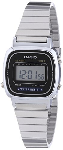 Casio Collection LA670WEA-1EF Orologio Digitale da Polso da Donna, Resina, Argento