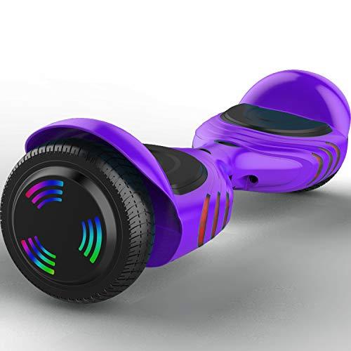 Kategorie <b>Zweirad E-Board (Hoverboard) </b> - GeekMe Elektro Scooter 6.5 '' Dual-Motoren Board Hover 2 Rad Self Balance Scooter Elektroroller mit Bluetooth Cool LED-Leuchten Modell Q