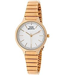 Ladies' THINK POSITIVE® Model SE W97 Classic Small Total Gold Steel Strap