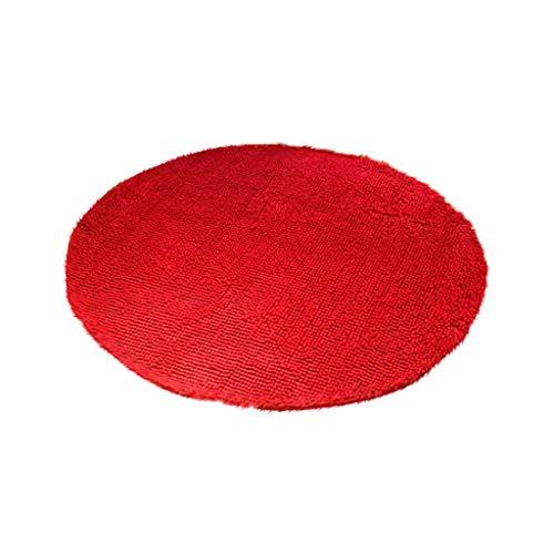 htfrgeds Weiche Chenille-Matte, Fluffy Teppiche Anti-Skid Shaggy Bereich Teppich Esszimmer Home Schlafzimmer Teppichboden-Matten für Wohnzimmer Schlafzimmer, 60x60cm -