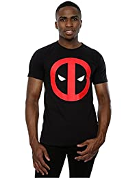 Marvel Homme Deadpool Clean Logo T-Shirt Medium Noir