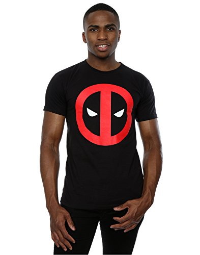 Marvel Herren Deadpool Clean Logo T-Shirt XX-Large Schwarz (Lizenziertes Marvel T-shirt Tee)