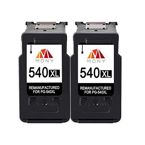 Mony Remanufactured Canon PG-540 CL-541 XL Druckerpatronen (2 Schwarz) für Canon MG4250 MG3650 MG3550 MX535 MX475 MX395 MG3250 MG3200 MG3100 Drucker