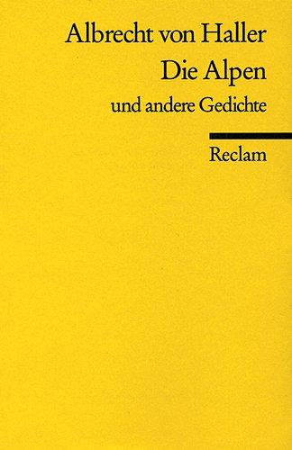 Die Alpen u. a. Gedichte (Reclams Universal-Bibliothek)
