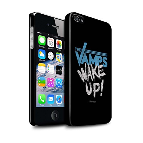 Offiziell The Vamps Hülle / Glanz Snap-On Case für Apple iPhone 4/4S / Pack 6pcs Muster / The Vamps Graffiti Band Logo Kollektion Aufwachen!
