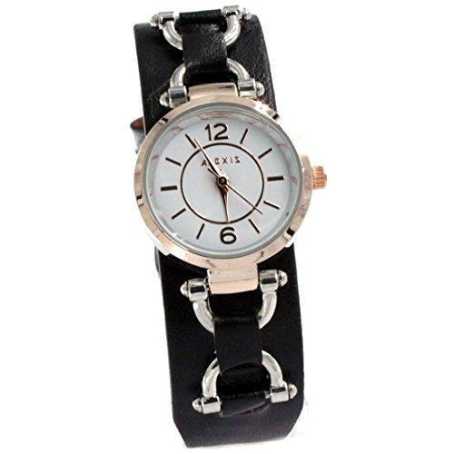 ukfw968b-new-weiss-zifferblatt-schwarz-band-pnp-glanzend-silber-watchcase-damen-fashion-armbanduhr