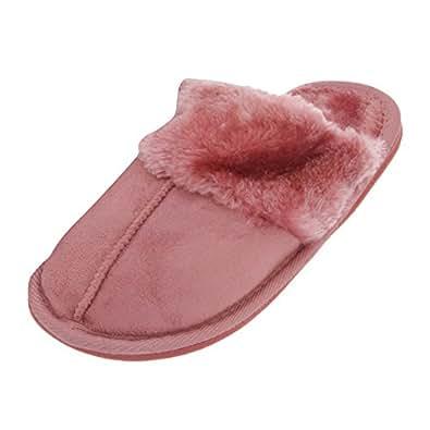 damen hausschuhe pantoffeln euro 36 37 rosa schuhe handtaschen. Black Bedroom Furniture Sets. Home Design Ideas