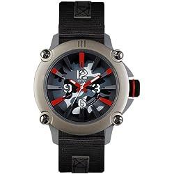 ene watch Mod. 110 Camouflage - Herrenuhr Armbanduhr mit Nylon Band ene-21715