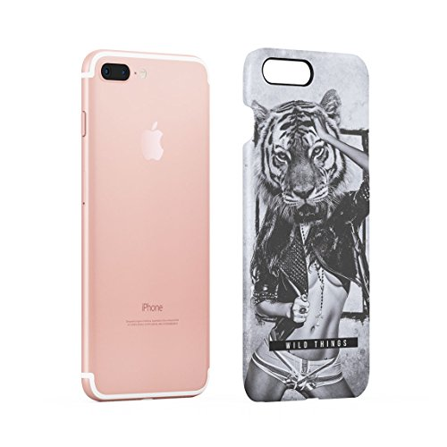 Wild Lion Inked Naked Tattoo Girl Custodia Posteriore Sottile In Plastica Rigida Cover Per iPhone 7 & iPhone 8 Slim Fit Hard Case Cover Wild Things