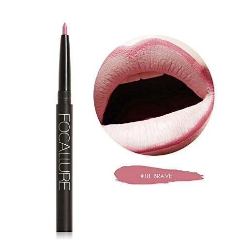 Weisy 19 Farben Lippenfarbe Bleistift Lipliner Langlebige Pigmente Nude Braun Rosa Matte Lip Liner (Lip Rosa Bleistift Liner)