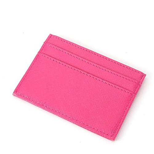 u Leder Kartenhalter Portable Camping Wandern Frauen Mini Pocket Kreditkartenetui - Rose ()