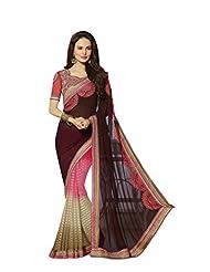 Aarti Latest Fashionable Party Wear Fancy Saree Bridal Embroidery Saree Wedding Wear Free Size - B00VRM6EDW