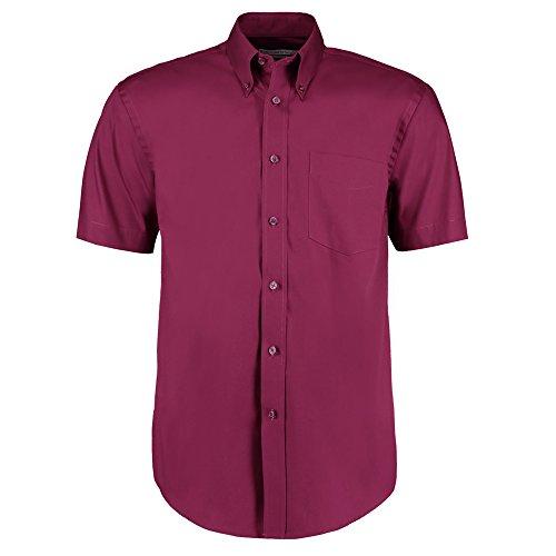 Kustom Kit Herren Modern Freizeit-Hemd burgunderfarben