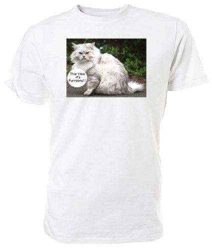 Gatto persiano T Shirt, questa volta è purrsonal White