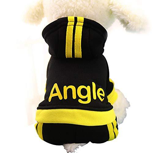 Kapuzen Xl Sweatshirt Jersey (Find_K Hunde-T-Shirt, Jersey, Winkel, mit Kapuze, Beste weiche und Bequeme Baumwolle für Welpen, XL, schwarz)