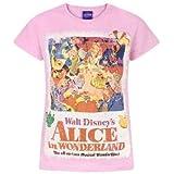 Disney - Camiseta diseño póster Alicia en el País de Las Maravillas para niñas
