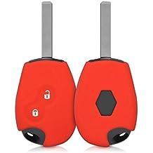 kwmobile Funda de silicona para llave de 2 botones para coche Renault Dacia - cover de llave - key case en rojo