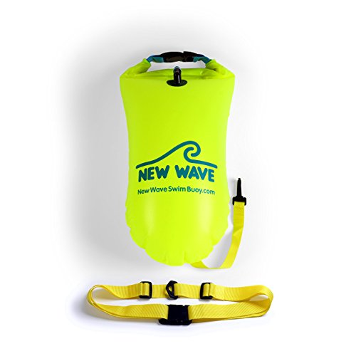 New Wave Swim Buoy for Open Water Swimmers - 15L PVC verde Bundle Footaction f59GLjdhk