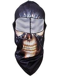 Calavera Máscara Protector UV Cara Cabeza Cubierta Caza Montar Pesca Halloween