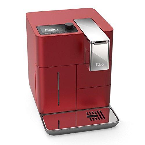 Qbo You-Rista Kaffeemaschine (Alexa kompatibel) – Kaffee Kapselmaschine für Caffe Crema, Espresso und Caffè Grande (19 Bar, 1500 Watt) steuerbar via App, vibrant rot