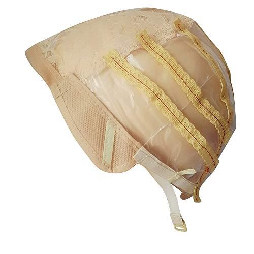 Luckhome Perücke Kappe Machen Elastische Atmungsaktive Spitze Mesh Net Weaving Cap Einstellbar Kopf Verstellbare Perückenkappe Elastischer, Atmungsaktiver Netzknopf Mit ()