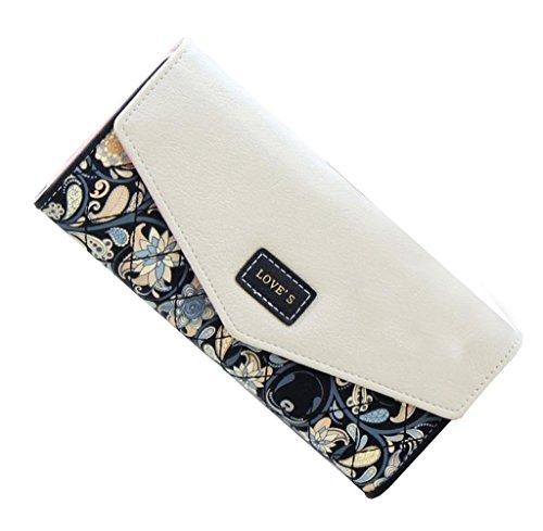 Geldbörsen, Rcool Mode Damen Neuen Umschlag Geldbörse Brieftasche langen Karte Tasche Mobile Zip Handtasche (Schwarz) (Geldbörsen Taschen Prada)