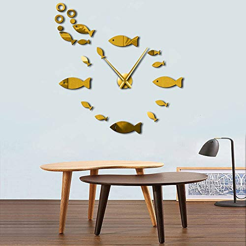 ZXMGZBIAO Fish with Bubble DIY Reloj De Pared Efecto