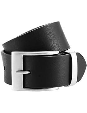 Cintura in pelle di tilia shirtzshop, XXL con fino a BW 170, completamente in pelle di bovino morbida, Nero 3934