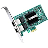 Gigabit Network Card-Intel 82576 Chip 1Gb Converged Network Adapter Card(NIC) Ethernet PCI Express 2.0 X1 Dual RJ45 Copper Ports for Windows Server,Linux,PC,VMware ESX.