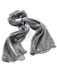 Metallic Shiney Silver Grey Fashion Scarf