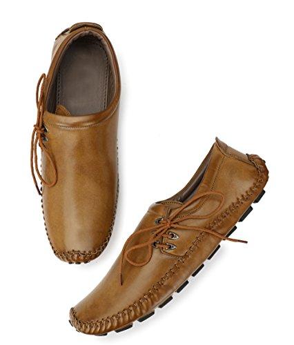 Restinfoot Men's New Look Casual Shoes Art:-120 (9, Beige)