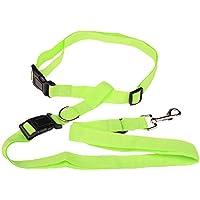 Emorias 1 Pcs Correa de la Mascota Caminando Cinturón de Manos Libres Entrenamiento Lead Leash - Verde