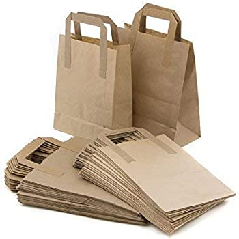 GIFT SHOP CARRIER BAG 9 x 12 INCHES SILVER PLASTIC BAGS 100