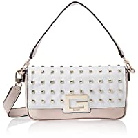 GUESS Womens Brightside Satchel Handbag, Stone Multi - VS758019