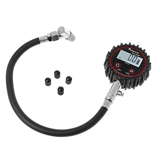 BIlinli LCD Display Digital Reifen Luftdruckprüfer 200 PSI Hohe Genauigkeit Barometer Überwachung Werkzeuge Tester für Auto Motorrad Fahrrad -