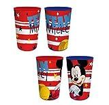 Javoli Mickey Maus Team Trinkbecher Becher Set für Kinder 4 Stück Disney