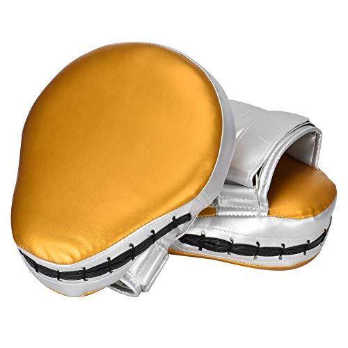 Queta PU Leder Punching Kicking Palm Pad 1 Paar, Hook Jab Strike Pad Boxer Target, Focus Punch Mitt Pad Boxhandschuhe -